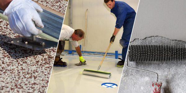 Beschichtungsverfahren für Bodenbeschichtungen aus Kunstharz